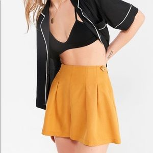 Urban Outfitters Mustard Pleated Shorts